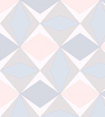 Papel de Parede Geométrico Rosa e Marrom