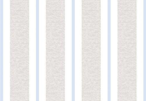 Papel de Parede Listra Azul Claro com Linho
