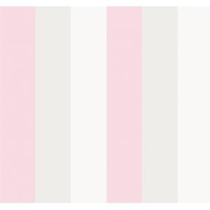 Papel de Parede Listras Rosa,Bege,Branco