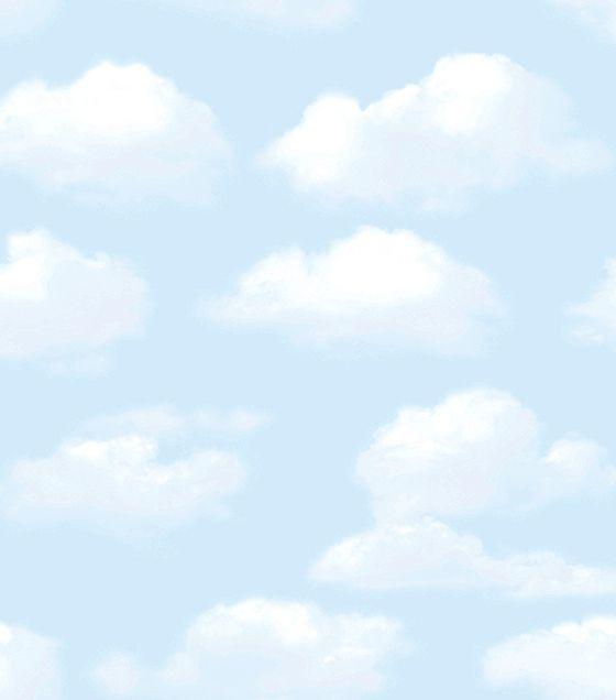 Papel de Parede Abracadabra Nuvens Azul