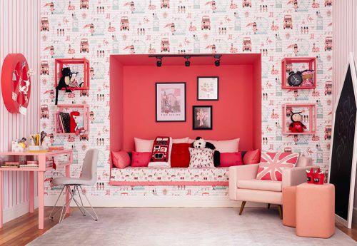 Papel de Parede Pink London
