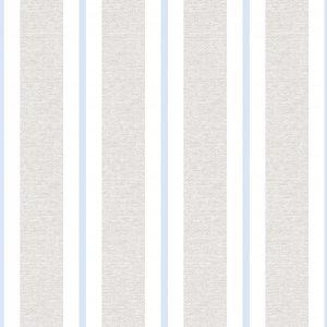 Papel de Parede Renascer Listra Clássica Cinza e Azul Claro