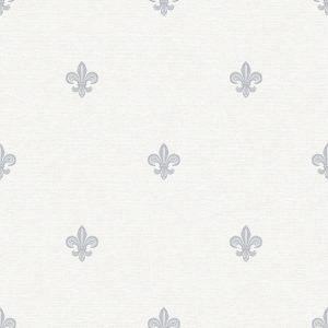 Papel de parede Renascer Flor de Lis Cinza