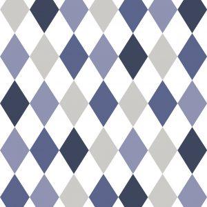 Papel de Parede Renascer Losango Azul