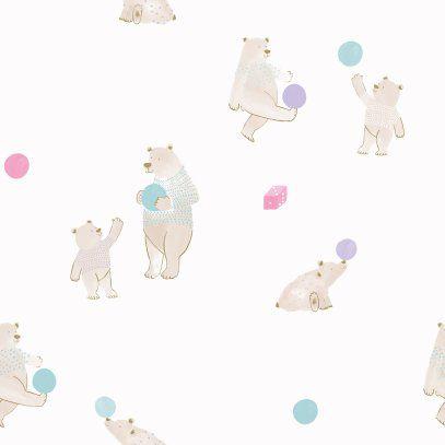 Papel de Parede Brincar Ursos