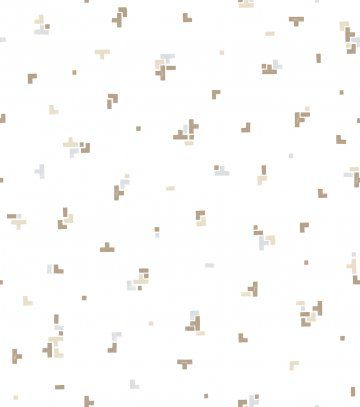 Papel de Parede Brincar Tetris Marrom