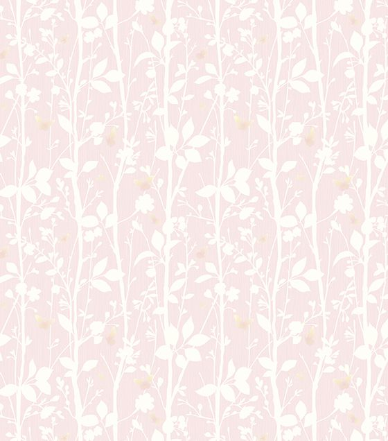 Papel de Parede Árvore Rosa