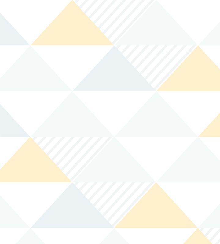 Papel de Parede Triângulo Amarelo e Cinza