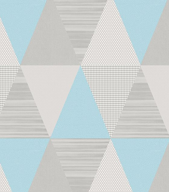 Papel de Parede Triângulo Azul