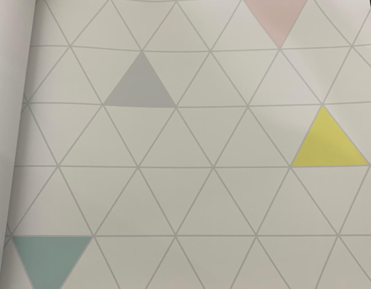 Papel de Parede Triângulo Colorido