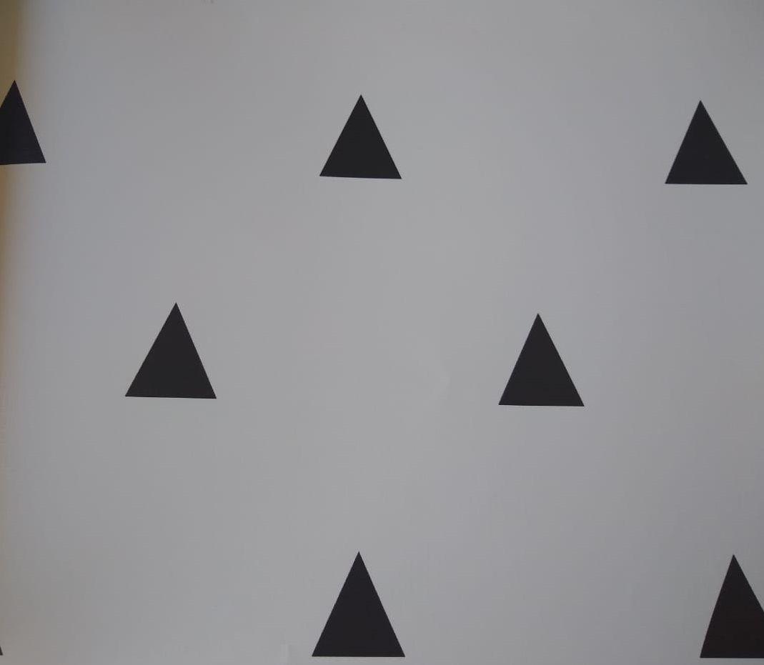 Papel de Parede Triângulo Preto