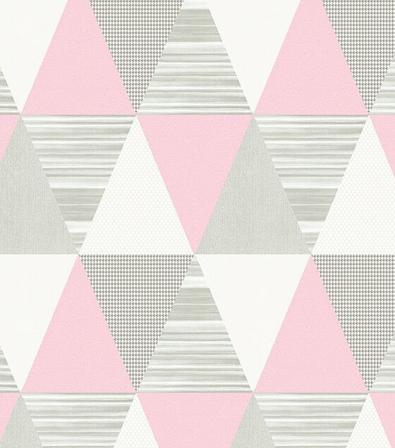 Papel de Parede Triângulo Rosa