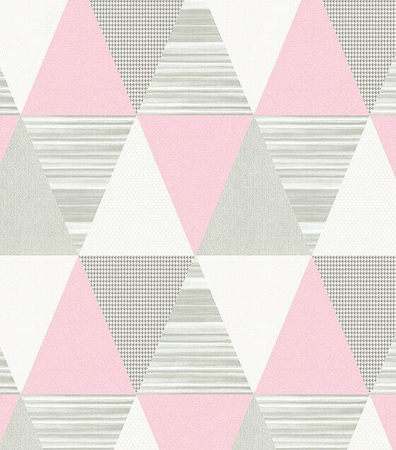 Papel de Parede Abracadabra Triângulo Rosa