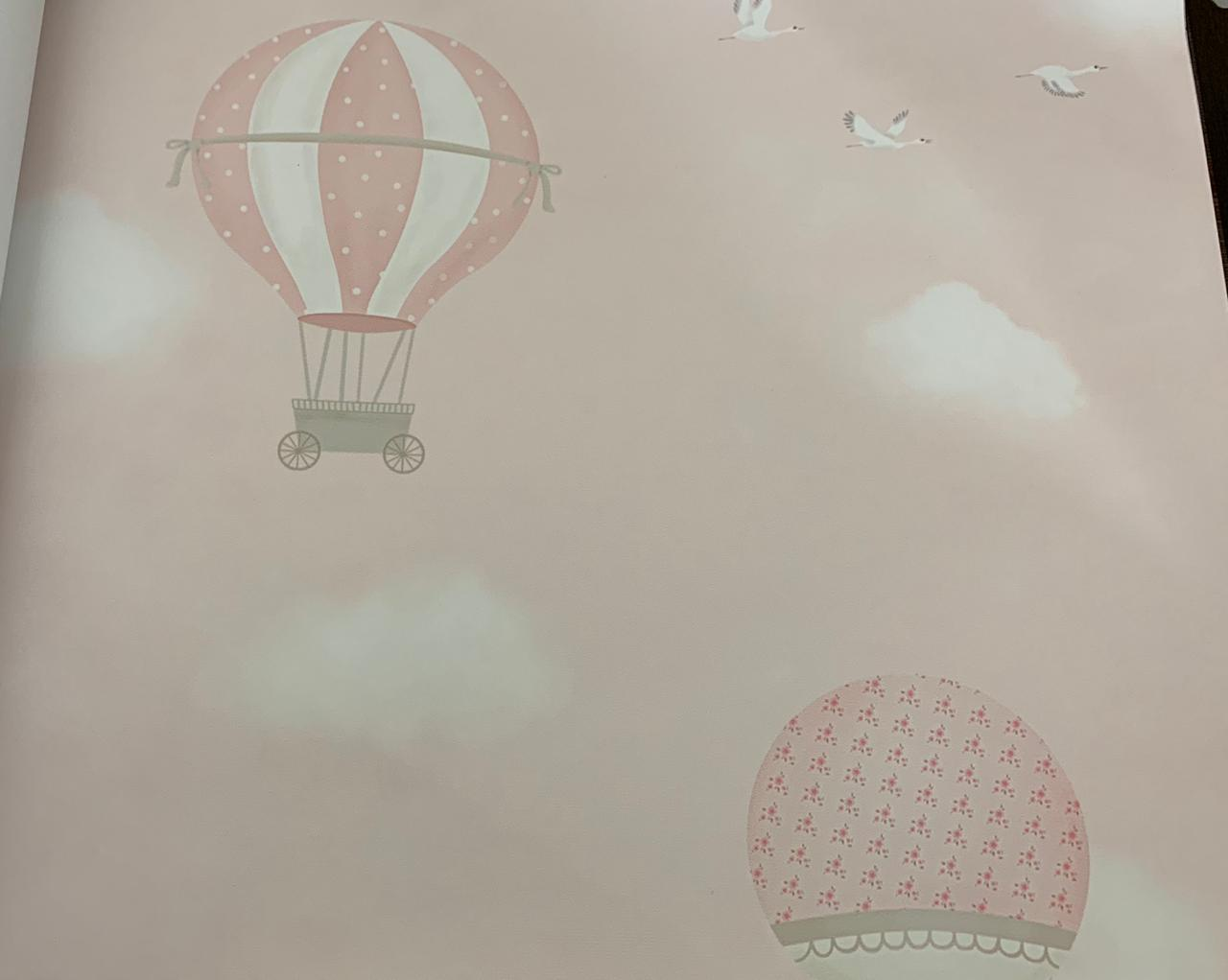 Papel de Parede Ursinha no Balão Rosa