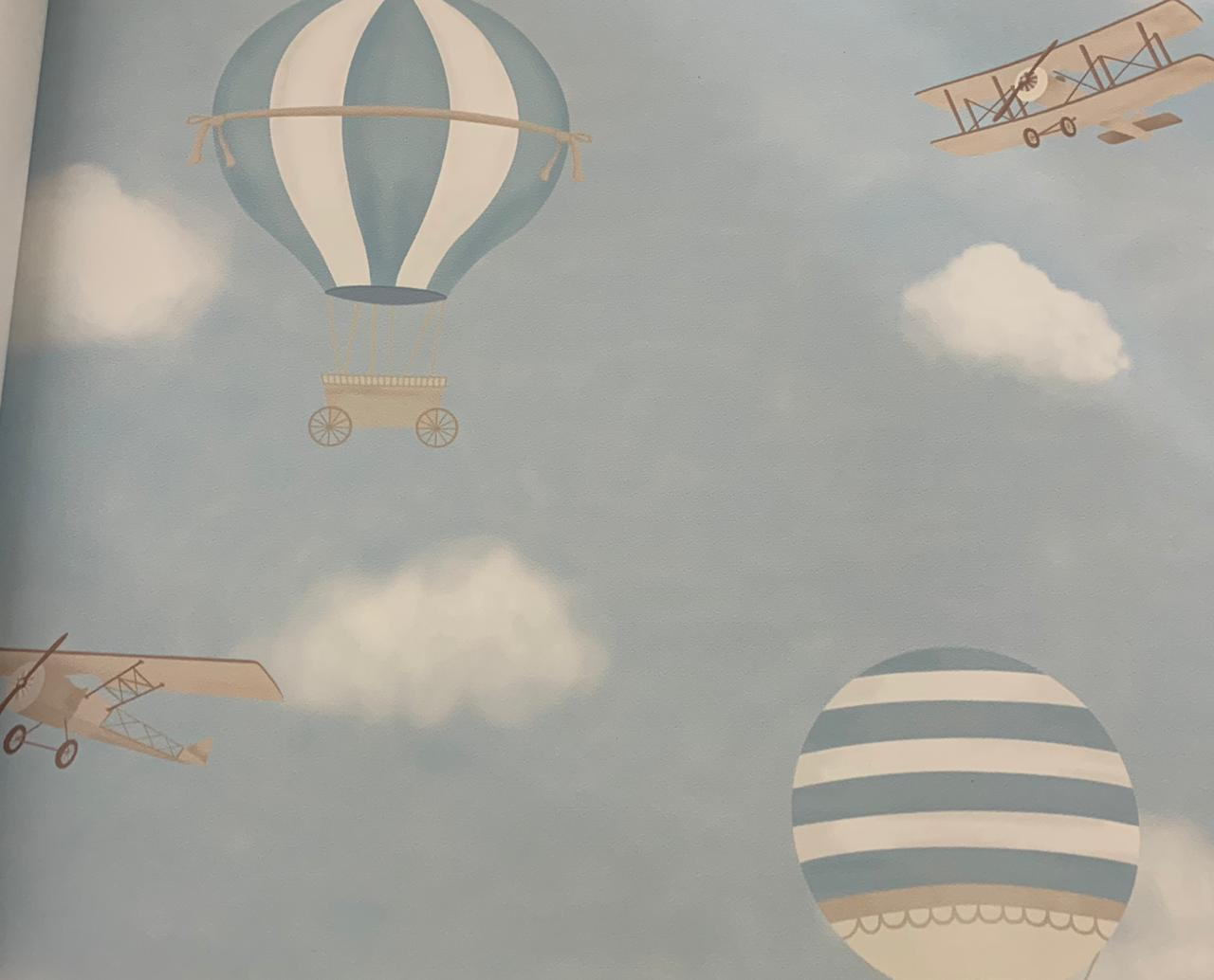 Papel de Parede Ursinho no Balão Azul