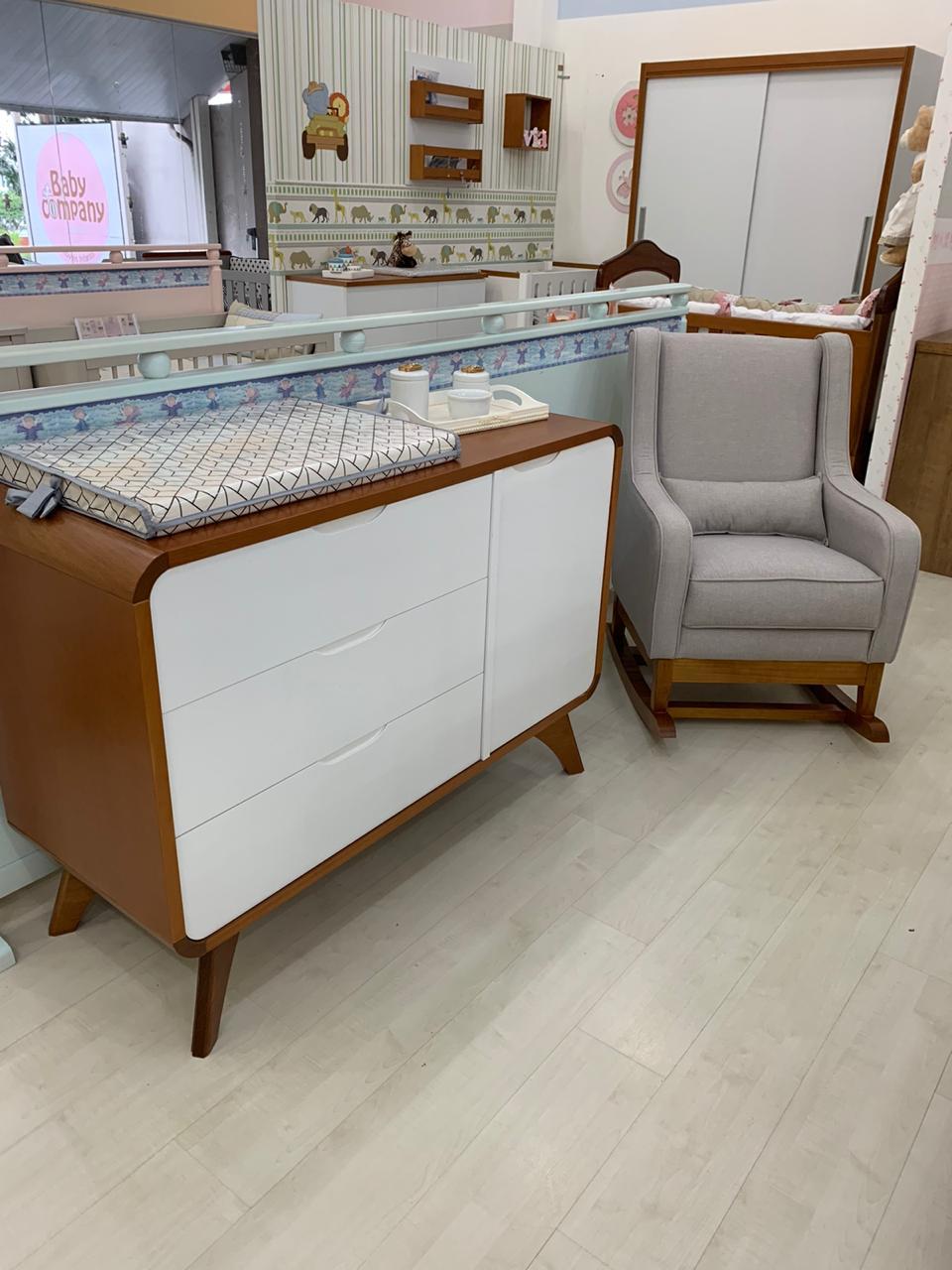Poltrona Balanço Baby Cinza