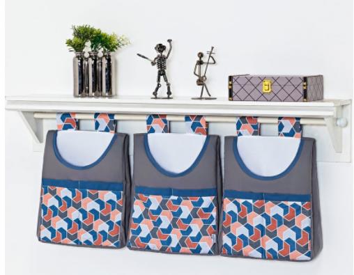 Porta Fraldas/ Objetos para Varão 3 peças Coleção Robô