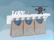 Porta Fraldas/ Objetos para Varão 3 peças Coleção Aviador