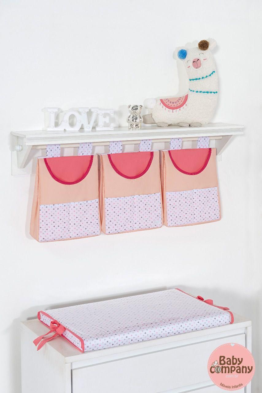 Porta Fraldas/ Objetos para Varão 3 peças Coleção Lhama
