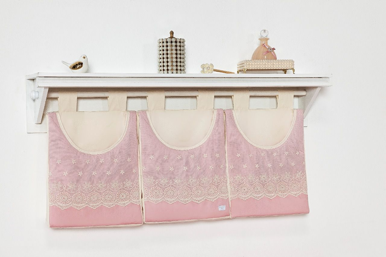 Porta Fraldas/ Objetos para Varão 3 peças Linha Louise
