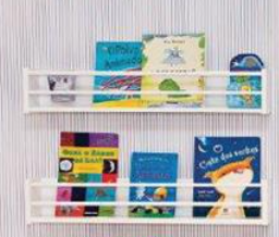 Prateleira para Livros Brinquedoteca Branco Fosco