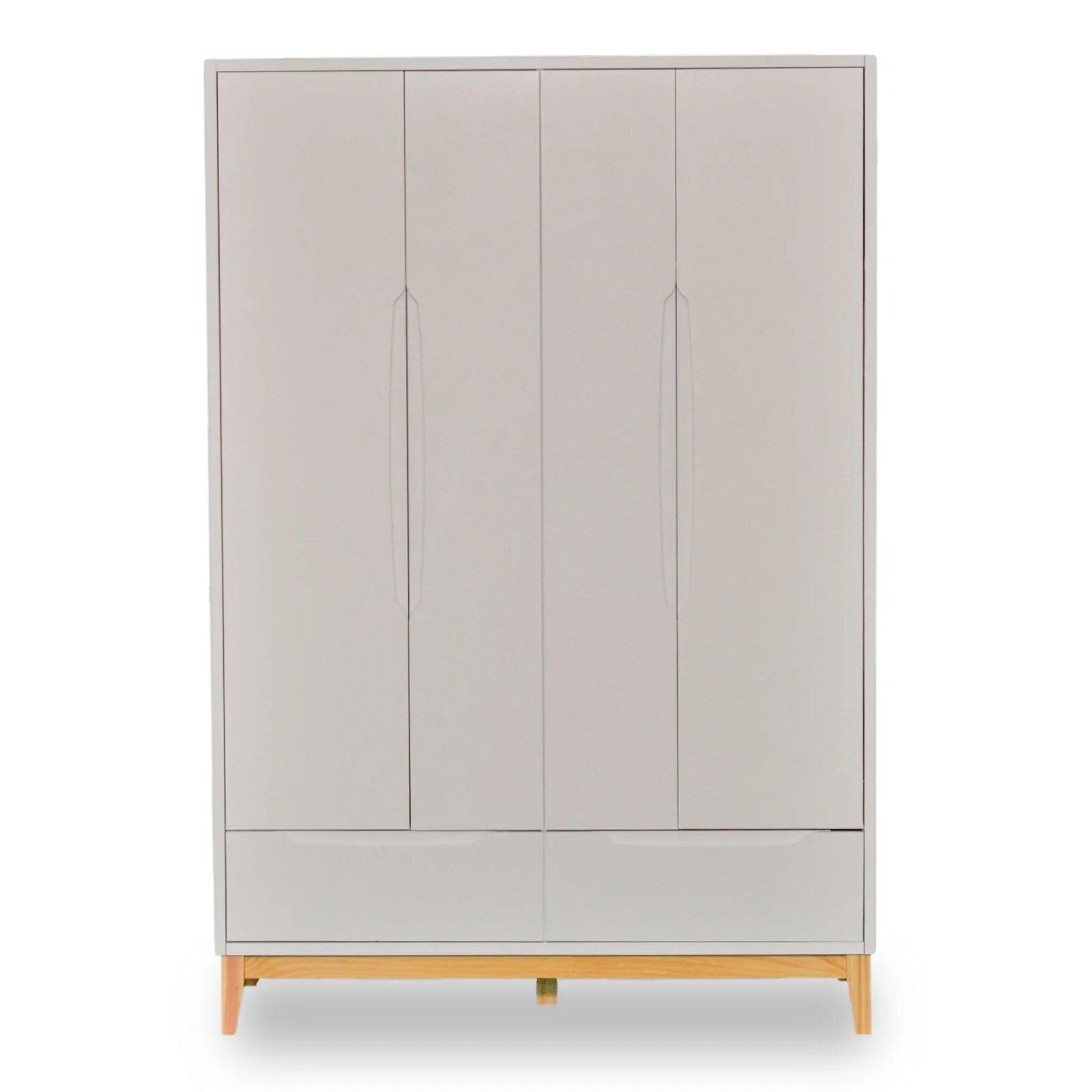 Roupeiro Infantil 4 portas e 2 gavetas - coleção Amor Perfeito branco