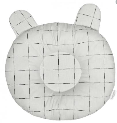 Travesseiro Anatômico Quadriculado Cinza