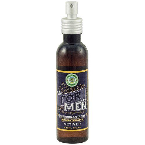Spray Vetiver - Linha For Men - 120ml  - Body & Mind Beautiful