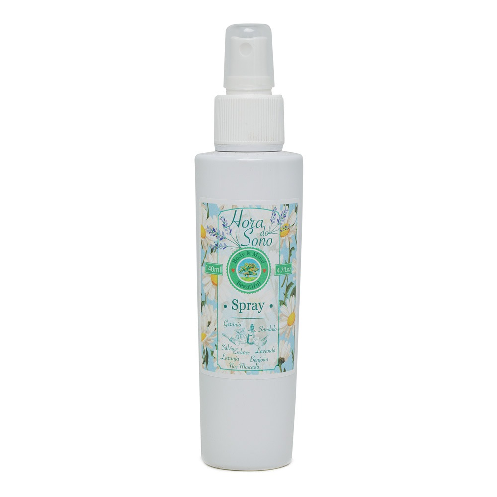 Óleos Essenciais - Hora do Sono - Spray - 140ml  - Body & Mind Beautiful