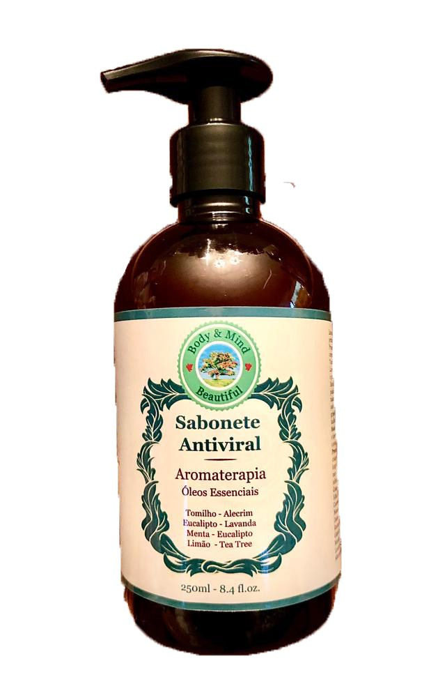 Sabonete Antiviral  -  250 ml  - Body & Mind Beautiful