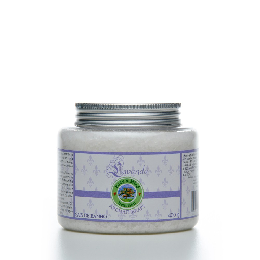 Sais de Banho - Lavanda - 400g  - Body & Mind Beautiful