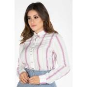 Camisa Feminina Listras Verticais Via Tolentino