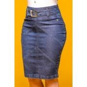 Saia Jeans com Recortes Via Tolentino