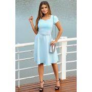 Vestido Godê Lady Like com Cinto Moda Evangélica