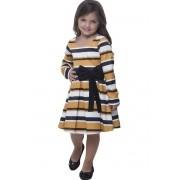 Vestido Listrado Infantil Via Karuso Moda Evangélica