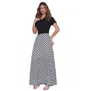 Vestido Longo Poá Moda Evangélica