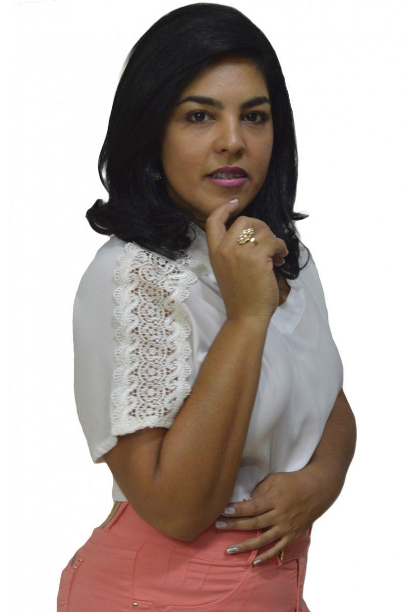 Blusa Feminina Elegance Off White Moda Evangélica