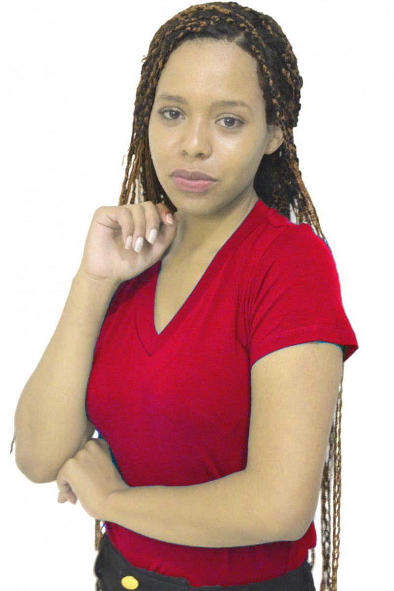 Blusa Feminina Malha Vermelha Moda Evangélica | Bela Evangélica Modas