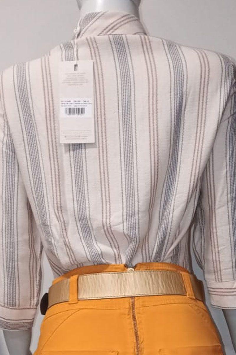 Camisa Feminina com Ilhos Via Tolentino Moda Evangélica