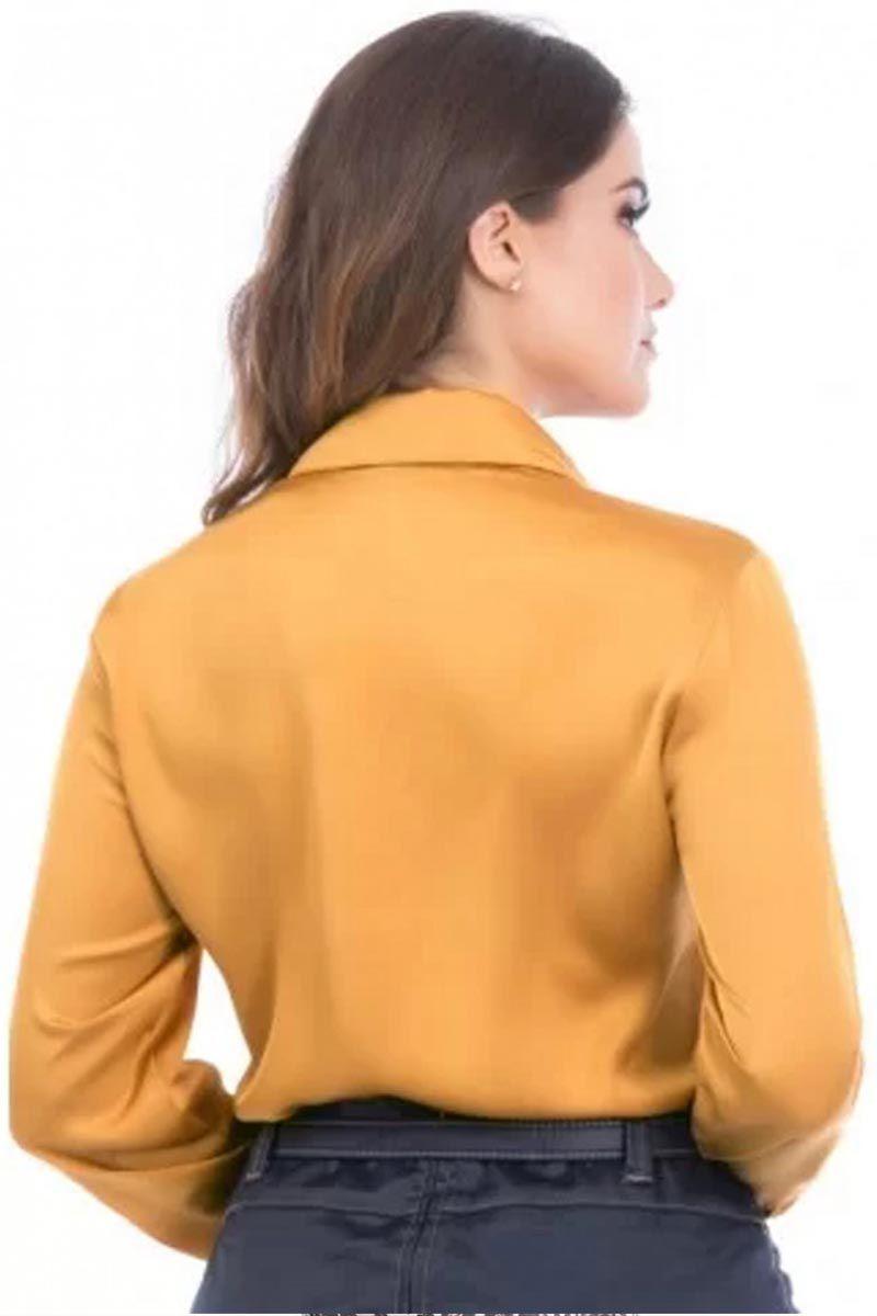 Camisa Manga Longa com Abotoamento Embutido Via Tolentino Moda Evangélica