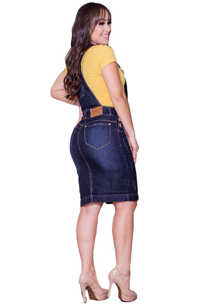 Jardineira-Salopete Jeans Moda Evangélica