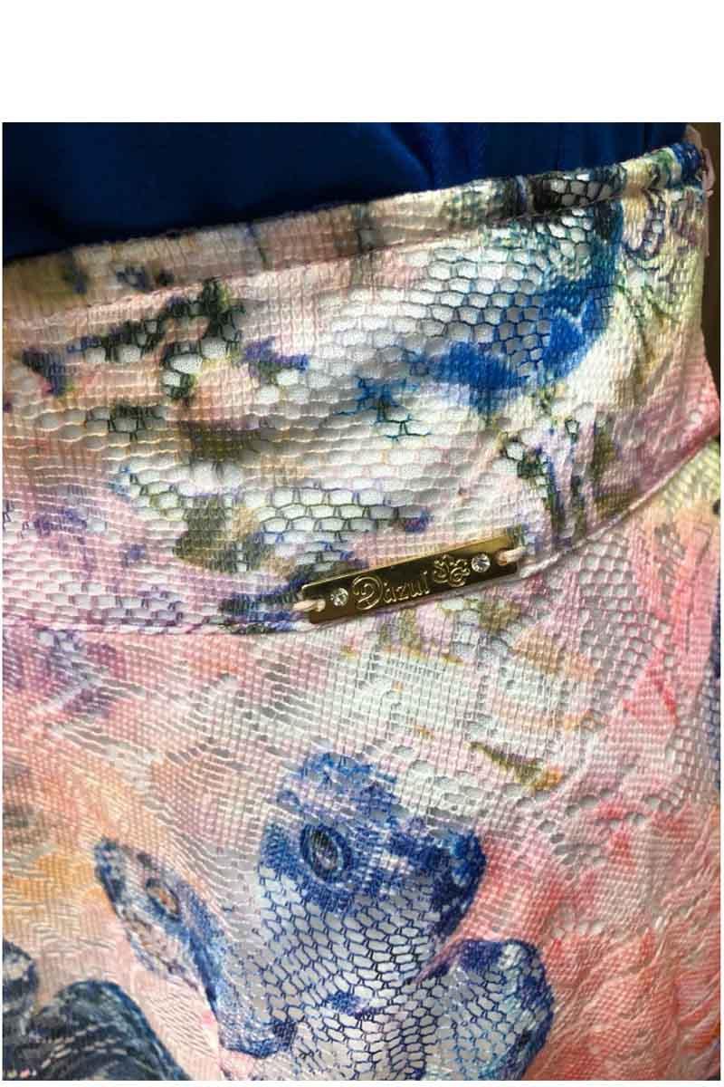 Saia Godê Renda D'azul Moda Evangélica
