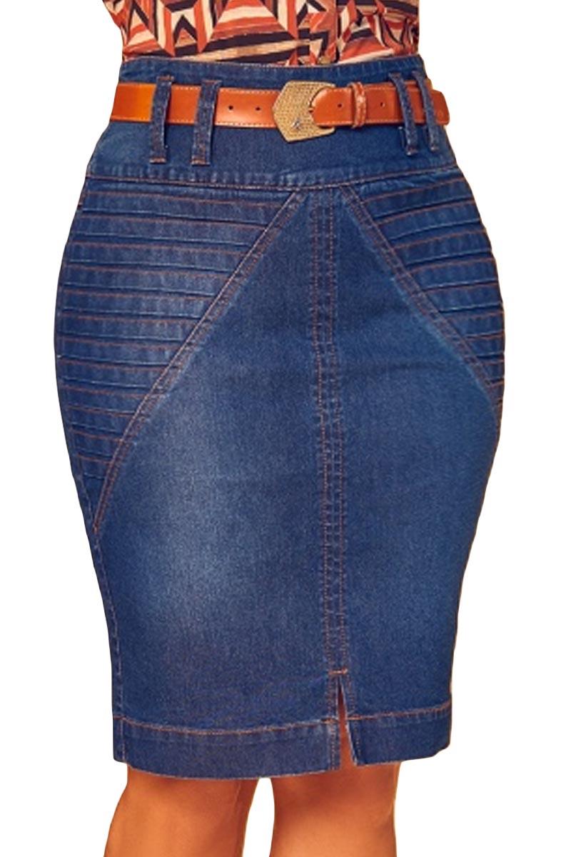 Saia Jeans Com Tomas Via Tolentino