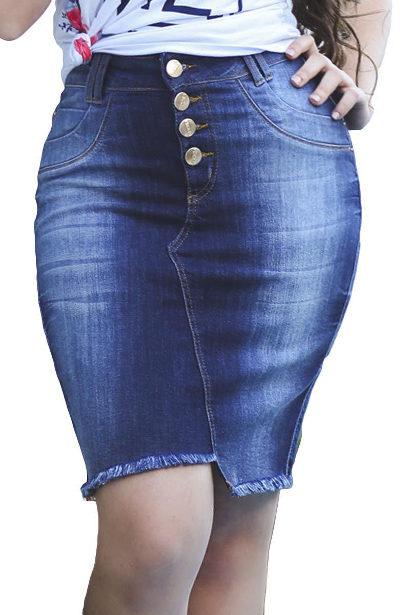 Saia Jeans Desfiado na Barra Moda Evangélica