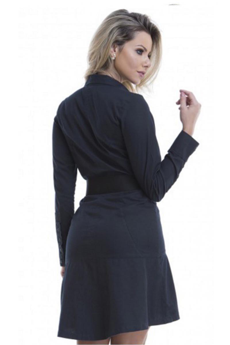 Vestido Detalhe Zíper Via Tolentino Moda Evangélica
