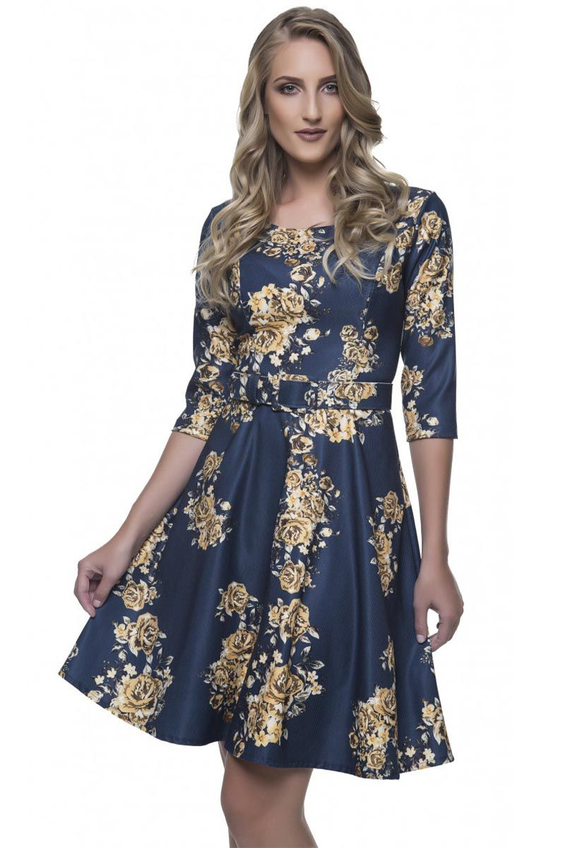 Vestido Estampado Via Karuso Moda Evangélica