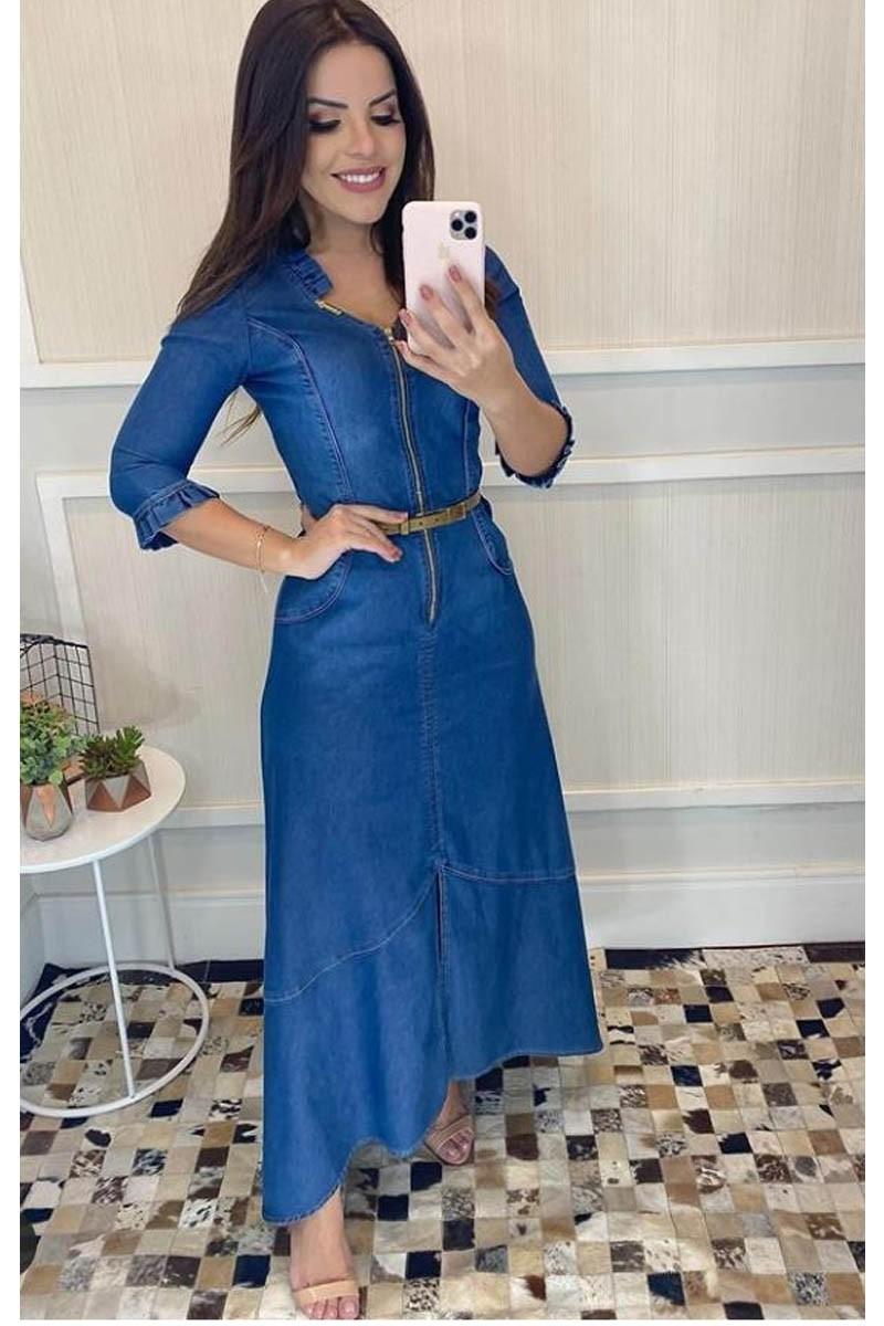 Vestido Jeans Longo Via Tolentino