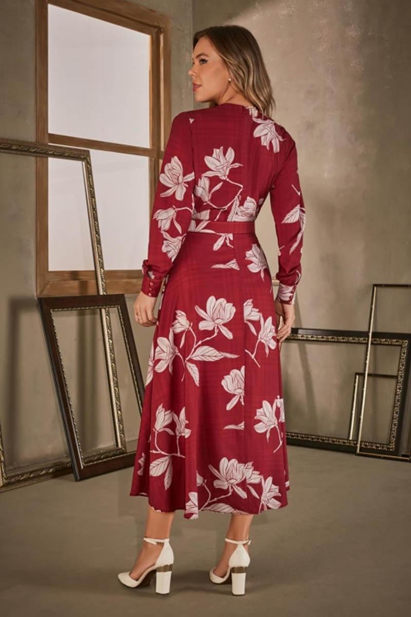Vestido Longo Decote V Via Tolentino