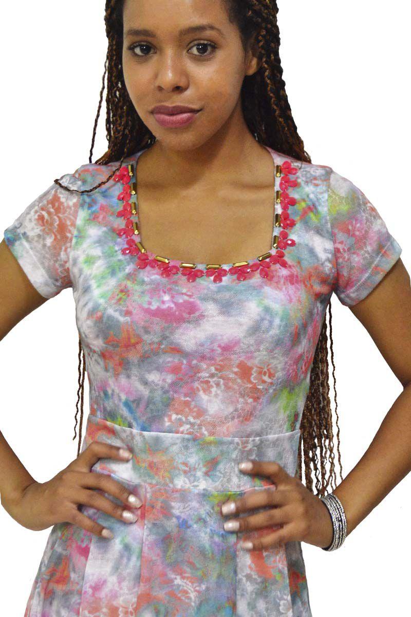 Vestido Malha Estampado Zunna Ribeiro Moda Evangélica