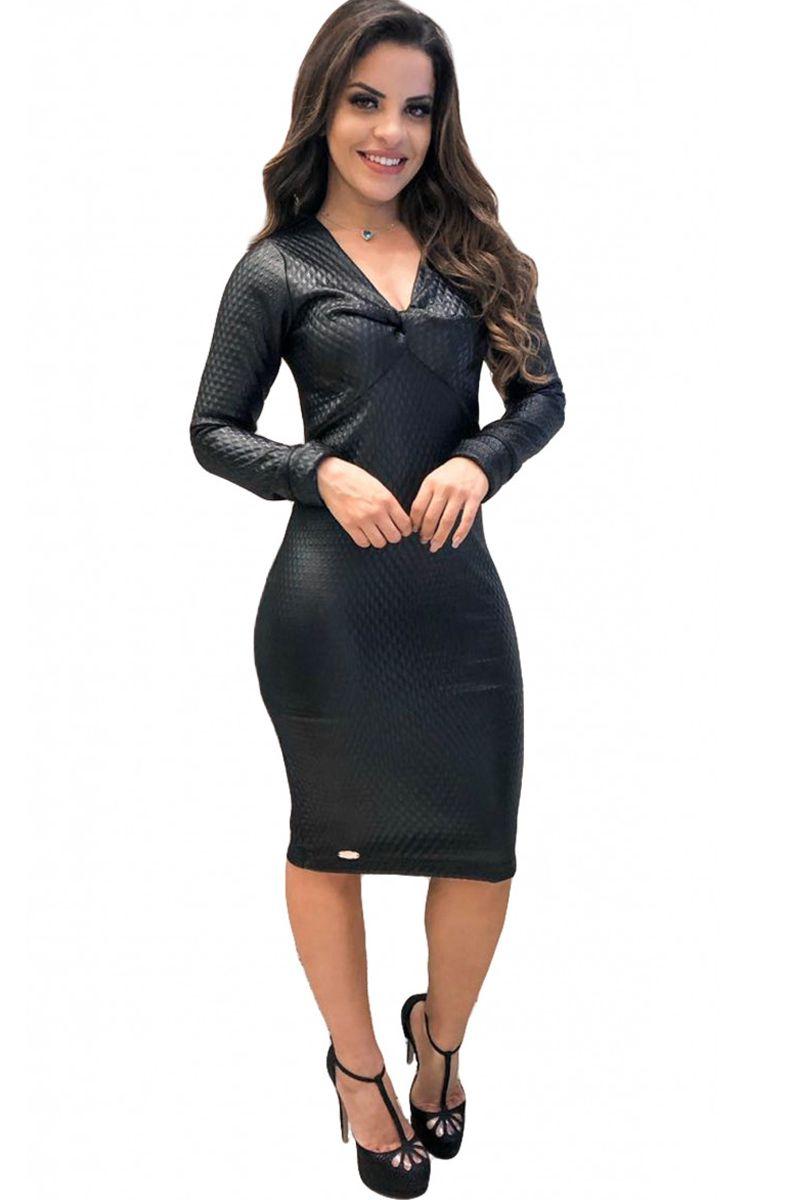 Vestido Micaela em Metalassê BoutiqueK Moda Evangélica